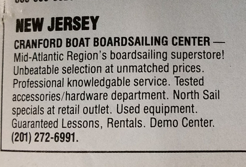 C Boat Windsurfing Ad