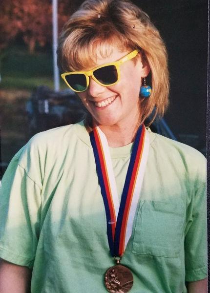 Jill with Olympic Medal