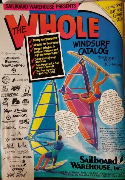 Sailboard Warehouse Ad