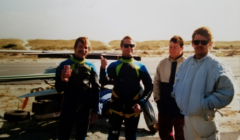 Sandy Hook C Boat windsurfing