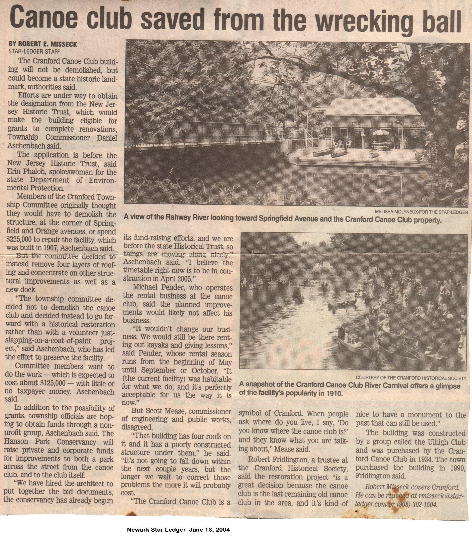 Star Ledge - Canoe Club Wrecking Ball Article_June 13, 2004