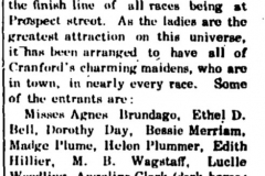 1907 Cranford Chronicle Clipping