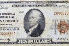 1929 Bernardsville National Bank  $10 note.