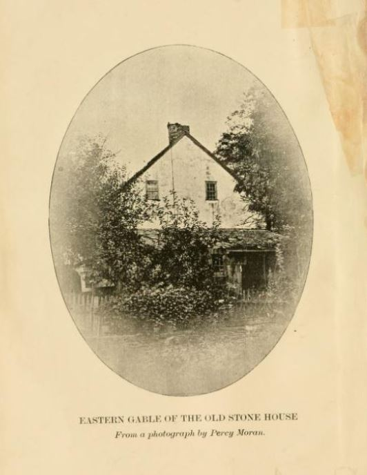 View of an older Mellick Stone House in Bedminster, NJ