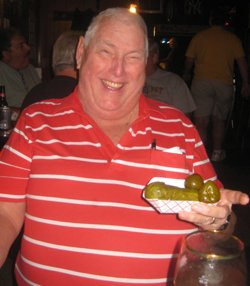 Retired #806 Ken McShea enjoys a few laughs whenever he's back at Krugs.
