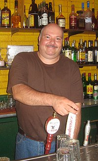Jimmy Piontek, bartender and flat top master serves it up the way he's done it for the last 28 years.