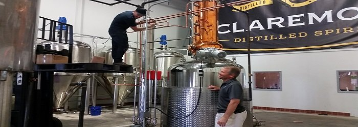 Claremont Distillery Founder Tim Koether and his Master Distiller, founded in 2014