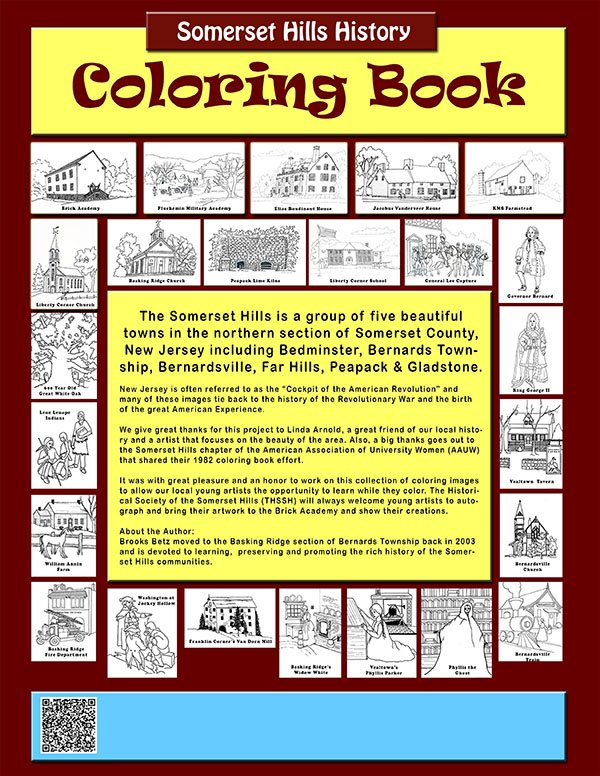 Somerset Hills Coloring Book Cover