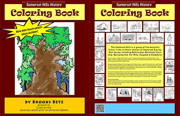 Somerset Hills Coloring Book- Mr. Local History Archive #mrlocalhistory