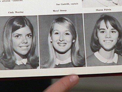 Meryl Streep Meryl Streep BHS Yearbook Photo 1966 11th Grade (Junior)