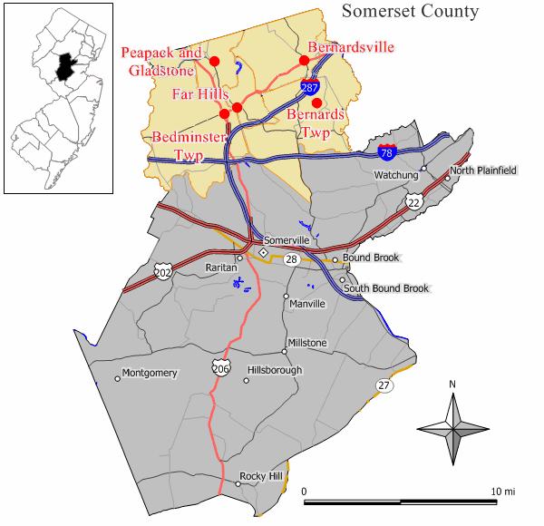 Map Somerset_Hills_NJ_mr local history