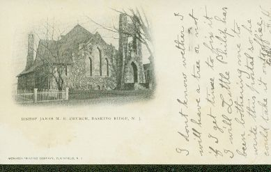 Bishop Janes United Methodist Church c1906 in Basking Ridge, New Jersey
