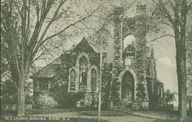 Bishop Janes United Methodist Church om Basking Ridge circa 1911
