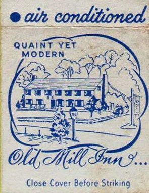 Old matchbook cover - the Old Mill Inn