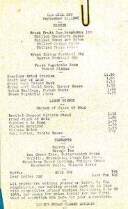 Click image to enlarge a Old Mill Inn 1946 menu. Shrimp cocktail only $0.30! Source: eBay