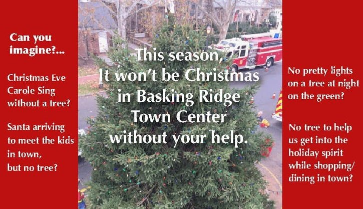 2019 - The Basking Ridge Fire Company tree request on social media.