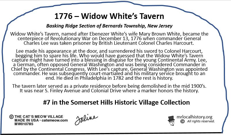 The history of Widow White's Tavern in Basking Ridge, New Jersey