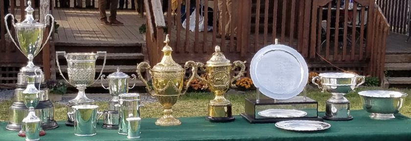 The trophy table at the 2017 Far Hills Race Meeting.