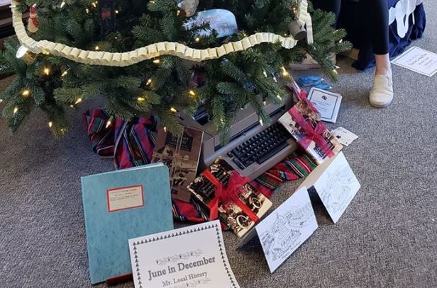 June In December Holiday Tree Honors former Bernards Township Historian June Kennedy
