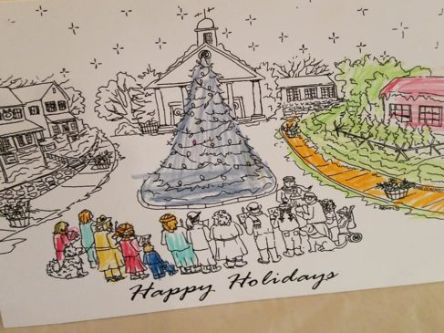 Join the Mr. Local History Project and their Santa helpers for free card coloring and hot chocolate at the Washington House on Dec. 7th from 3-5pm on the heated patio.