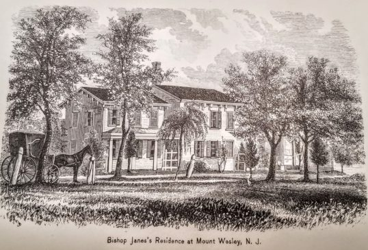Bishop Edmund Janes summer residence called Mount Wesley most likely after John Wesley,know as the founder of Methodism.