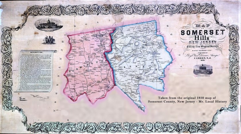 This 1850 map is a recreation of an original 1850 Somerset County map. The area hasn't changed, but towns have forged their own mark on history.