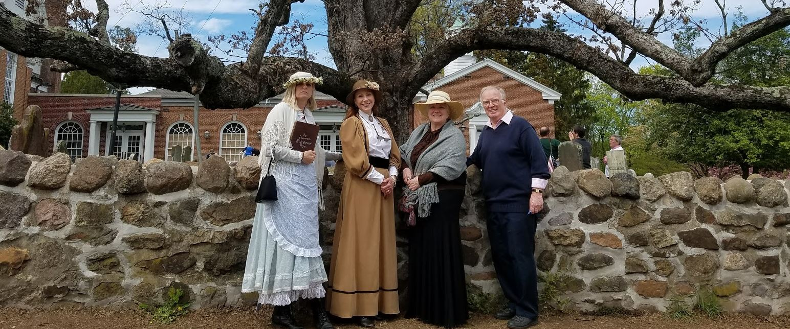A few of our fantastic hosts and docents for the Basking Ridge walking tour.