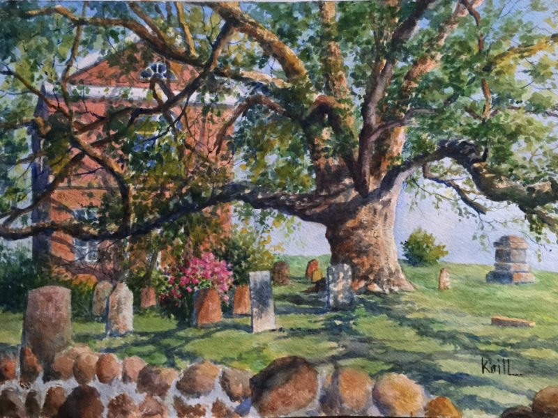 asking Ridge Oak Tree- Artist - Krill - Mr Local History
