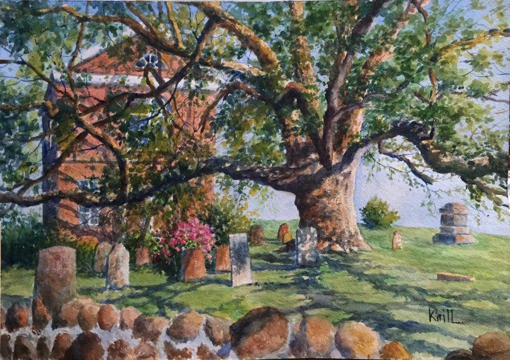 asking Ridge Oak Tree- Artist - Krill - Mr Local History