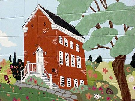 Wall Mural - Oak Street School. Artist Coordinator - Caren Frost Olmsted