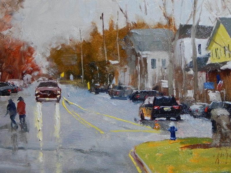 Historic Basking Ridge Village. Artist - Paul Bachem