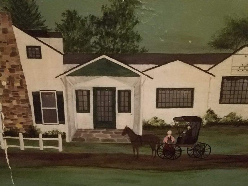 Grain House mural - in the Grain House hallway