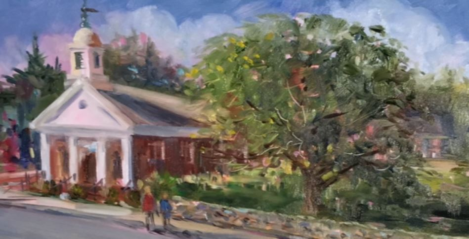 Rendering by Nancy Robinson - Mr Local History art show
