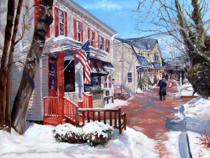 Basking Ridge Downtown by Artist Alex Bigatti