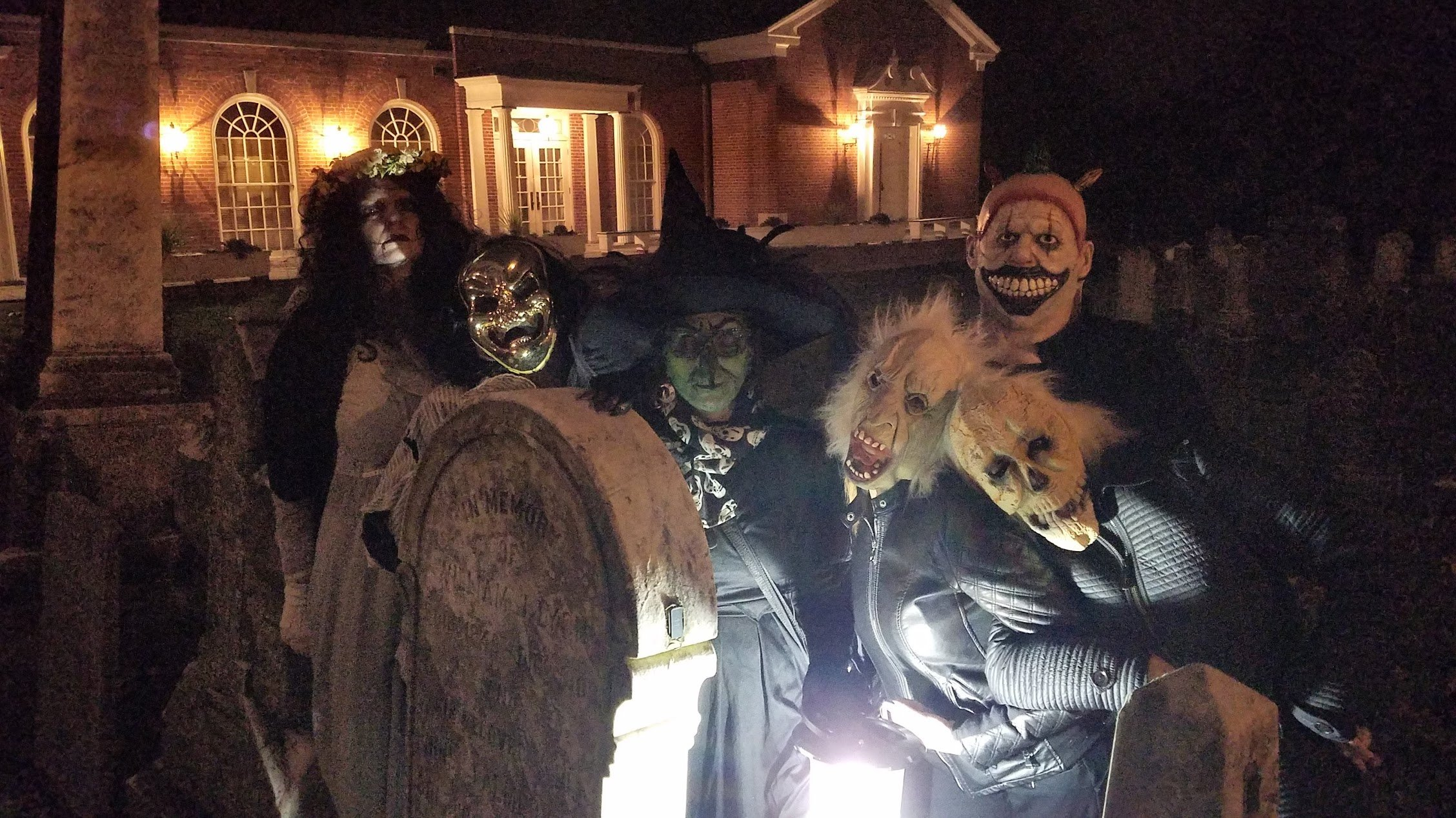 Some of our haunted guests for the Haunted Walking Tour of Basking Ridge