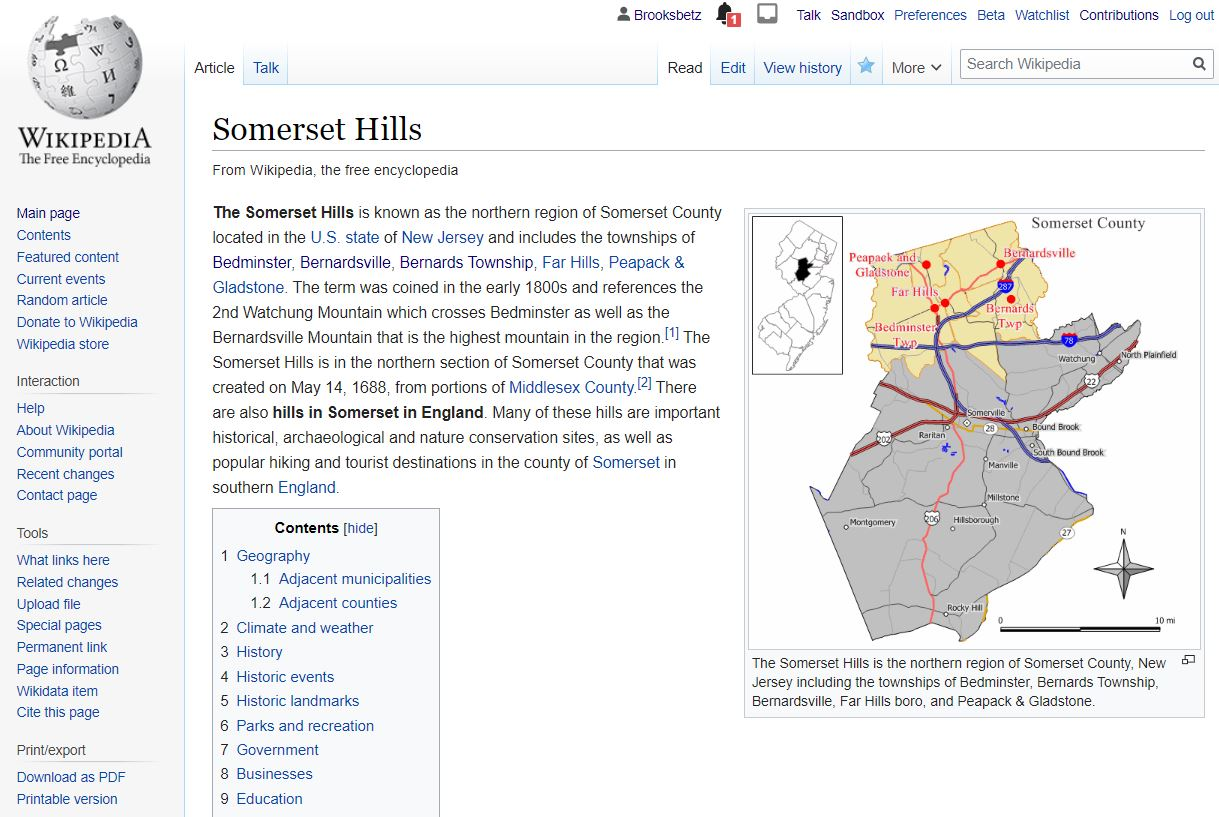 Visit the Somerset Hills Wikipedia page today - Click Here