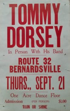 Tommy Dorsey Benefit in Bernardsville 1932. Tommy lived in Bernardsville from 1935 to 1944 at 200 Old Army Road.