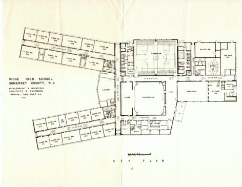 Ridge High School Floor plan c1961
