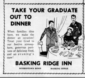 June 20, 1968 advertisement, going out to dinner. Bernardsville News