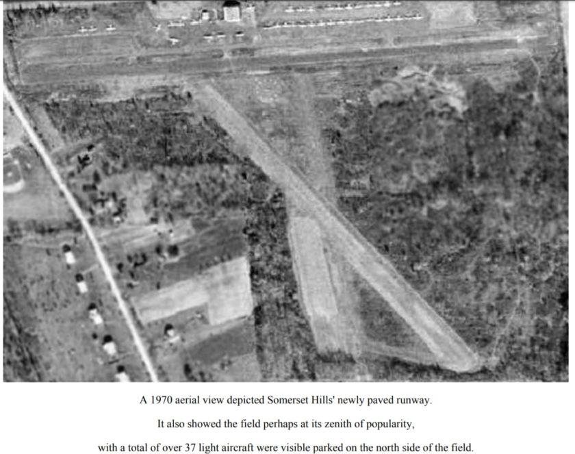 Aeriel view - Somerset Hills Airport c1970