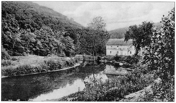 Pleasant Valley Mill in Basking Ridge, c1906