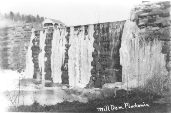 Pluckemin's Old Log mill dam c 1905