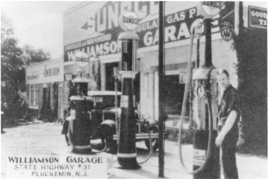 Bedminster c1940 Pluckemin Williamson Garage