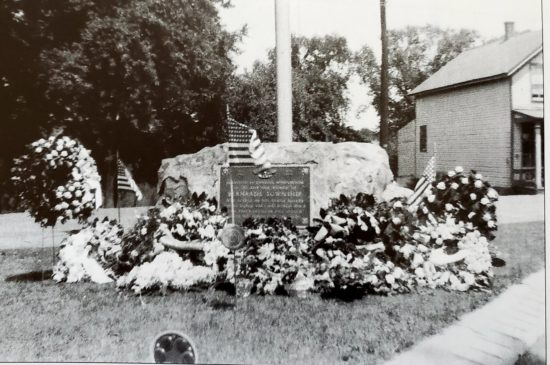 Liberty Corner Veterans Plaque 1949