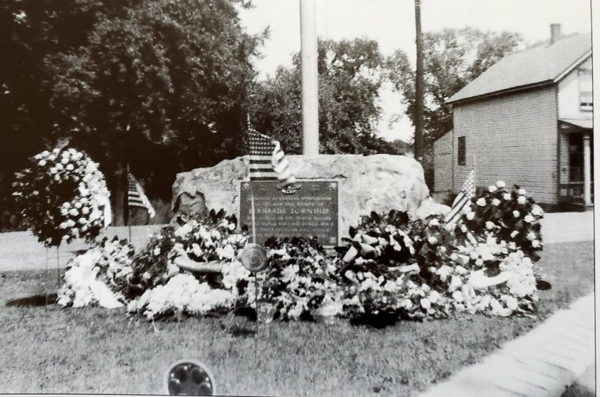 Liberty Corner Veterans Plaque 1949
