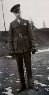 Sergeant George E Brush of Basking Ridge 1944