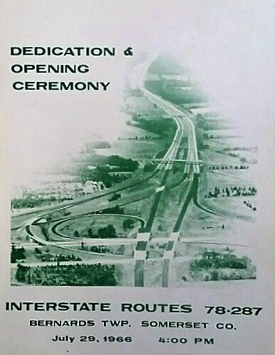 1966 Basking Ridge Route 78 and 287 dedications - Mr Local History