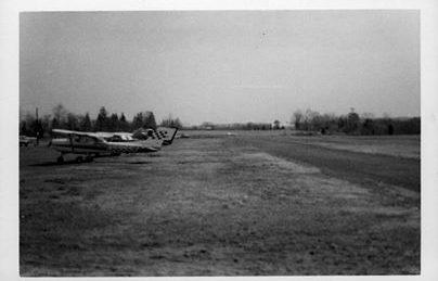 The Somerset Hills Airport runway alongside Maple Avenue