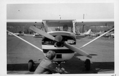 Deborah-Lewis preparing for her first solo October 17, 1970