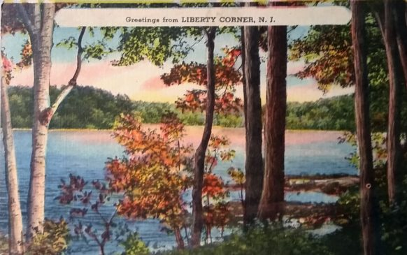 Greetings from Liberty Corner NJ postcard